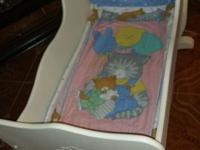 I have a cradle like new condition White color For a