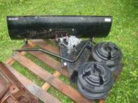 "Craftsman snowplow 42"" with 2 sets of wheel weights and"