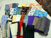 Selection of cotton and cotton blend fabrics for