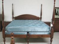 This is a stunning king size bed, handmade in Mebane,