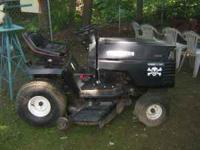this is a craftman riding mower. its 14 hp 6 speed with