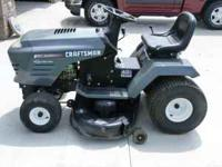 "I have a real nice 15.5 horse 42""deck 6 speed Craftsman"