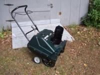 CRAFTMAN SNOW BLOWER 4 STROKE , ELECTRIC START , AND