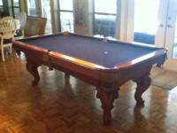Craftmaster Pool Table , Light Oak 7x4 With Light Oak
