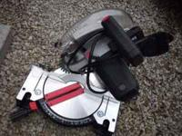 "Like new Craftsman 10"" compound miter saw with laser"