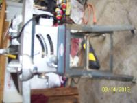 This is a craftsman ten inch 3/4 hp table saw my father