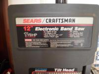"CRAFTSMAN 12 "" BAND SAW WITH ELECTRONIC INDICATOR"