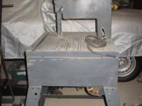 "1 1/8"" HP CRAFTSMAN 12"" BANDSAW ON STAND. 2 SPEED ,120"