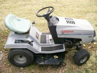 "Craftsman 12hp briggs engine, with 36"" cut deck,"