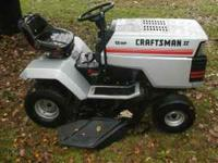 Craftsman 12 HP 6 speed. lawn tractor. Seat has rips