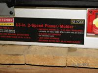 "13"" planer/molder finishes rough-cut lumber to"