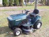 Good running and cutting Craftsman riding mower, 16.5