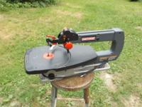 "Heres a CRAFTSMAN 18"" variable speed scroll saw.its in"