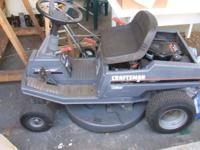 "Craftsman rear engine 30"", 13.5 hp riding lawn mower"
