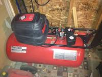Up for sale is a Craftsman air compressor. It is a 33