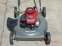 "CRAFTSMAN 4.5 H.P. 22"" CUT PUSH MOWER: SERVICED AND"