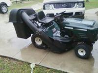 Up for sale is a 42 inch cut riding mower with a 15.5