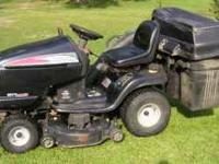 "CRAFTSMAN riding mower model DYT 4000 42"" cut with 2"