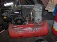 Craftsman air compressor,5 horsepower Briggs and
