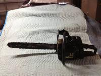 For Sale is one Craftsman Chain Saw. * It has a 3.3cc 2