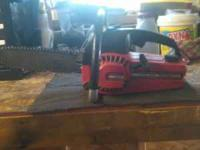 "I'm selling my craftsman chainsaw 10"" bar great little"
