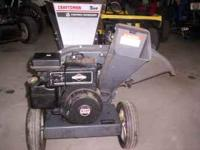 Craftsman chipper/shredder. 5hp. runs and works great.