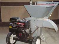 I have for sale a Craftman Wood Chipper It has a 5HP