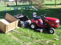 Craftsman DLT3000 Lawn Tractor/Mower with Lawn Sweeper