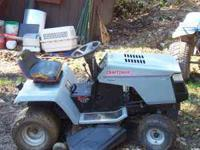 HI, WE HAVE FORSALE A CRAFTSMAN II TRACTOR / MOWER RUNS