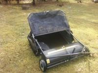 "Craftsman 38"" Lawn Sweeper Model 486.24207 Like new"