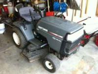 "Craftsman 20hp 44"" 6 speed lawn tractor. Call Steve at"