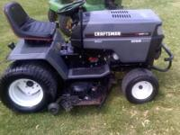 for sale is this big craftsman lawn tractor. it has a