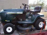 "Craftsman Lawn Tractor 42"" cut manual transmission 19.5"