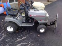 The Craftsman LT1000 garden tractor lawn mower, With