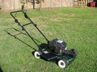 "Craftsman 22"" self propelled mower, runs great, good"