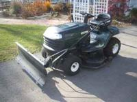 NICE 42 INCH CRAFTMAN MOWER WITH 16 HP BRIGGS ENGINE.