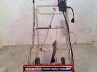 "Craftsman Electric Power Snow Blower 18"" path 12"" high"
