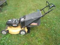 This is a GOOD used mower- Used veary little!! Has the