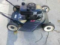 This is a Craftsman 4.5hp push mower that has a 20 inch