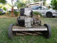 Old Craftsman reel mower with newer 5 HP engine