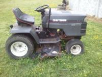 Craftsman rider lawn mower with a 18hp kohler motor.