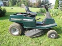 "CRAFTSMAN LAWN MOWER, 10HP, 30"" DECK, 5 speed Riding"