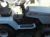 "1994 craftsman riding lawn mower 12.5 hp motor 38"" cut"
