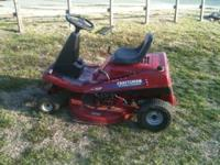 Craftsman riding lawn mower 13.5 hp engine Briggs and