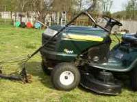 "Craftsman riding lawn mower. LT 1000, 14 hp mower, 42"""