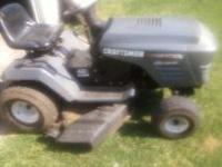 Craftsman riding lawnmower For sale 15 1/2 hp engine