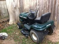 I have a Craftsman riding mower that runs and cuts vert