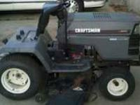 craftsman riding lawnmower model gt 6000 has a kohler