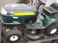 Here is a nice 17.5 hp riding mower. Everything works