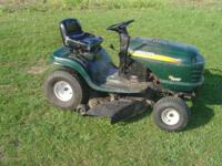 I just recently serviced this mower runs and cuts good.